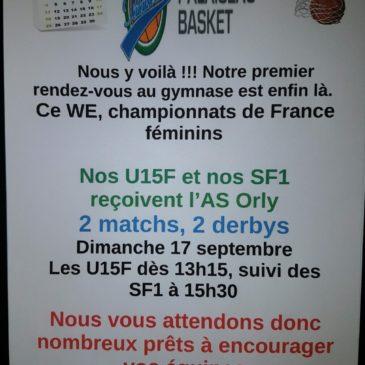 Dimanche championnats de France féminin