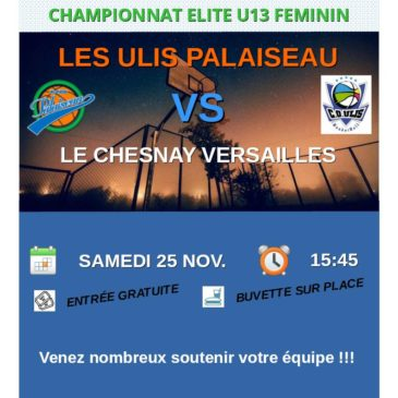 Match U13F vs Le Chesnay Versailles