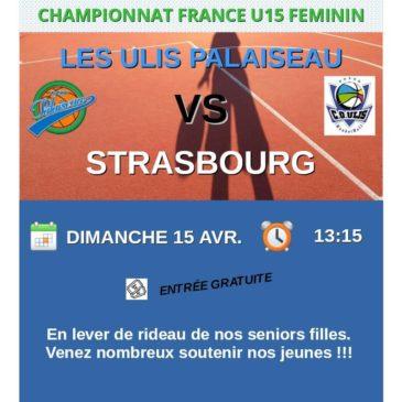 Affiche du 15 avril 2018 U15F France