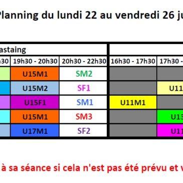 Planning de reprise 2019-2020
