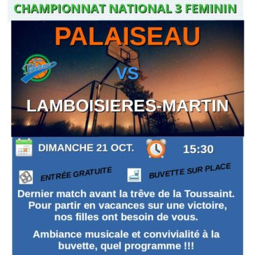 Match NF3 le 21 octobre 2018