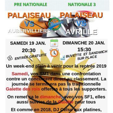 Week-end des 19 et 20 janvier 2019