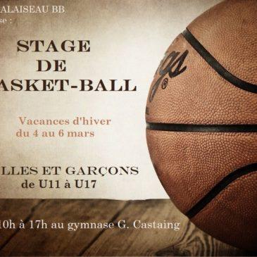 Stage de Basket du 4 au 6 mars