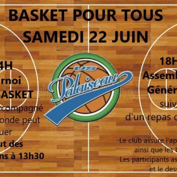 22 juin Open basket et A.G.