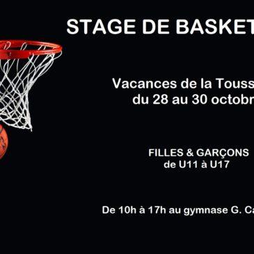 Stage de basket Toussaint 2019