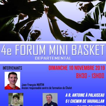 Forum Minibasket départemental à Palaiseau